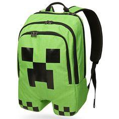 Рюкзак майнкрафт - Крипер Рюкзак для настоящих фанатов игры майнкрафт с отделением для ноутбука, а также множеством карманов для удобного расположения вещей в рюкзаке. Рюкзак стилизован под одного из самых опасных отрицательных персонажей игры - Крипера. удобные регулируемые лямки подойдут для удобного ношению как детям так и взрослым. С таким уникальным рюкзаком Вы обязательно привлечете к себе внимание. Размер рюкзака: 46 ч 30 см.