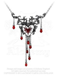 Bleeding-Heart-Pendant-by-Alchemy-Gothic-England-0
