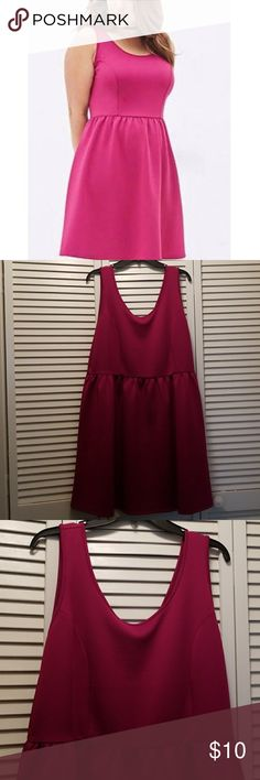 Forever 21 Dress Forever 21 Fuchsia Pink Dress. Size 3x. *worn once to wedding* NOTE: has small stain see pic 4. Hardly noticeable. Forever 21 Dresses