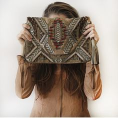 #regram @calypsostbarth showing off our Inka embroidered clutch for Fall 2014 #TGIF