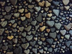 I collect these too ! A Whole Lotta Love photo of heart shaped beach stone collection. Heart In Nature, Heart Art, I Love Heart, With All My Heart, Heart Shaped Rocks, Whole Lotta Love, Sticks And Stones, Beach Stones, Photo Heart