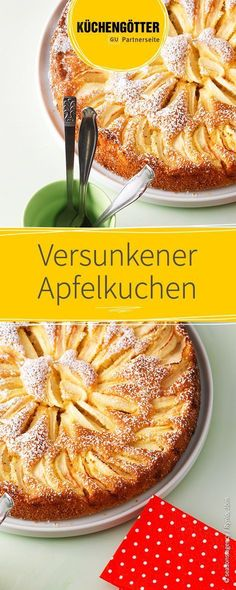 German apple cake- Versunkener Apfelkuchen Recipe for sunken apple pie, can be filled with different types of fruit depending on the season. Apple Cake Recipes, Apple Desserts, Tart Recipes, Fruit Recipes, Baking Recipes, Dessert Recipes, Dessert Blog, Healthy Cake, Healthy Fruits