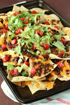 BBQ Bacon Cheeseburger Nachos www.thereciperebel.com 4sm