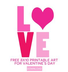 Free 8×10 Valentine's Day Printable Art