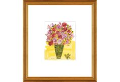 One Kings Lane - Museum Classics - Andy Warhol, (Stamped) Basket of Flowers