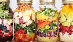 DIY Projects & Crafts by DIY JOY at http://diyjoy.com/mason-jar-salad-recipes-in-a-jar