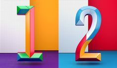 Colourful Numbers. great for presentations ^bb (other numbers as well)