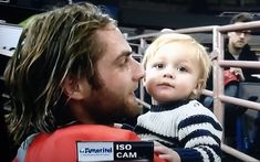Braden Holtby and his son Benjamin 10/14/13