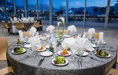 Elegant Calla arrangement for UVU at NuSkin.