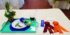 """Special to Dorchester Banner/Ellen Higgins Above: Award of Design Excellence, """"Snack in the Garden"""" Tray Design by Faye Phillips. Breakfast Tray, Churches Of Christ, Garden Club, Flower Show, Table Designs, Shed, Floral Designs, Banner, Presents"""