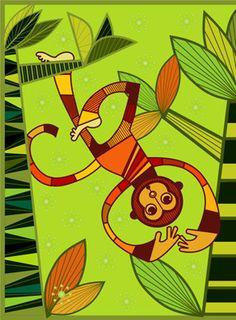 monkey pop by claudia gutierrez | Society6