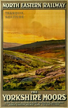 Hahnemuhle PHOTO RAG Fine Art Paper (other products available) - Poster, NER, The Yorkshire Moors - Tranquil Solitude - Image supplied by National Railway Museum - Fine Art Print on Paper made in the UK Posters Uk, Train Posters, Railway Posters, Poster Ads, Poster Prints, Tourism Poster, Art Print, British Travel, National Railway Museum