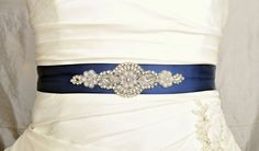 Crystal and Pearl Wedding Belt Wedding Sash by somethingnewdesigns, $30.00