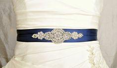 Crystal and Pearl Wedding Belt Wedding Sash by Avenue22Bridal, $30.00