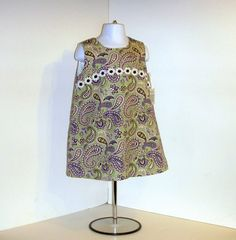 Toddler Dress  Lavender Green Black Paisley  by KarenHeenan