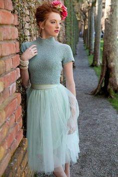 Bloom Skirt Mint Green