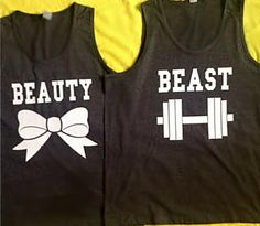 Disney Beauty & The Beast Couples Tank by 4everBigRedCreations, $38.00