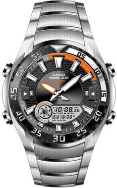 d845999289 Casio watch Marine Gear Tide Graph Moon Phase 100M AMW710D UK Seller