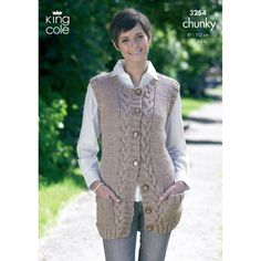 Waistcoat and Slipover in King Cole Big Value Chunky - 3254. Discover more Patterns by King Cole at LoveKnitting. We stock patterns, yarn, needles and books from all of your favorite brands.