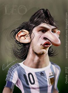 This picture is so cute! Famous Cartoons, Funny Cartoons, Create A Comic, Funny Caricatures, Caricature Artist, Leo, Funny Art, Lionel Messi, Soccer Players