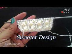 553ef76a8 Sweater   Cardigan Design no   124 ( स्वेटर   कार्डिगन का आसान डिज़ाइन )