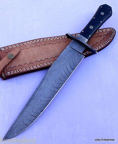 Damascus Knife Handmade - 16.00 Inches Micarta HANDLE Bowie