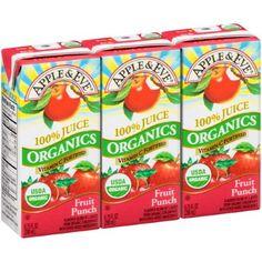 Apple & Eve Organics Juice Drink, Fruit Punch, 6.75 Fl Oz, 3 Ct