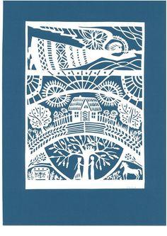 / lithuanian angel / papercut scherenschnitt / by odeta brazeniene / Kirigami, Paper Cutting Templates, Scandinavian Folk Art, Paper Artwork, Printmaking, Book Art, Creations, Paper Crafts, Prints