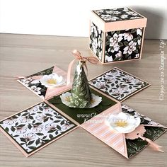 Ballon Party, Exploding Gift Box, Paper Boxes, Diy Box, Folded Cards, Stampin Up, Card Ideas, Decorative Boxes, Workshop