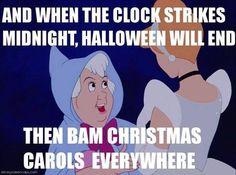 Bam christmas carols evverywhere..