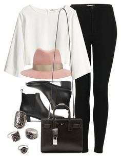 """""""Style #10584"""" by vany-alvarado ❤ liked on Polyvore featuring Topshop, H&M, rag & bone, Acne Studios, Yves Saint Laurent and Forever 21"""