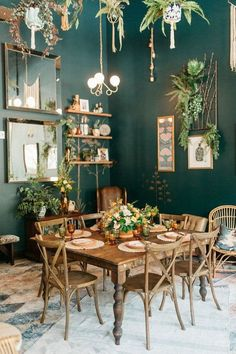 Dirty Facts About Emerald Green Kitchen Decor Ideas Revealed - pecansthomede. - Dirty Facts About Emerald Green Kitchen Decor Ideas Revealed – pecansthomede… Di - Green Dining Room, Green Kitchen Decor, Dining Room Design, Green Kitchen Walls, Green Walls, Green Kitchen Wallpaper, Green Painted Walls, Dining Room Paint, Green Home Decor