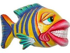 paper mache silly fish