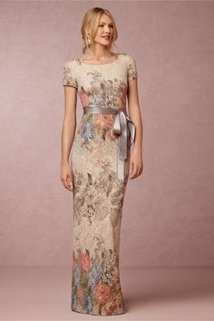 Adrianna Papell Melinda Dress floral mother-of-the-bride dress Mob Dresses, Lace Dresses, Pretty Dresses, Beautiful Dresses, Bridesmaid Dresses, Dresses With Sleeves, Short Dresses, Formal Dresses, Bride Dresses
