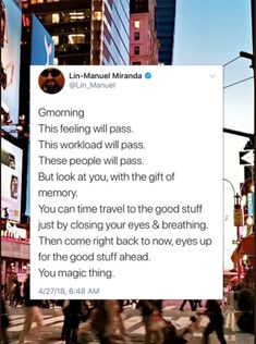 This will pass. But You can time travel back to the good. You magic thing