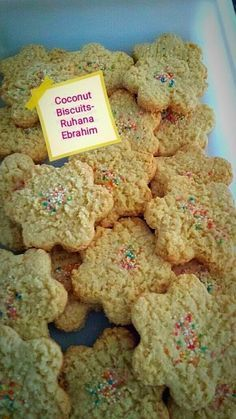 Coconut Biscuits recipe by Ruhana Ebrahim posted on 07 Apr 2018 . Recipe has a rating of by 2 members and the recipe belongs in the Biscuits & Pastries recipes category Eid Biscuits, Custard Biscuits, Coconut Biscuits, Cream Biscuits, Custard Cake, Coconut Cookies, Eid Biscuit Recipes, Pastry Recipes, Coconut Ice Recipe