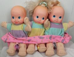 Magic Nursery Baby Doll Triplets Newborn Mattel. I 1990 w Carrier | eBay. I still have these... my daughter should play with these dolls too.