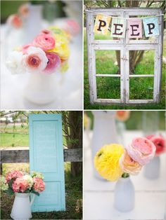 Sweet spring wedding colors