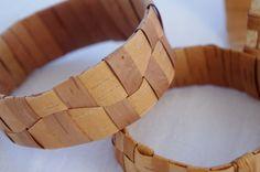 Woven Birch Bark Bracelet Wavy Pattern by BlackSpruceArts on Etsy, $12.50