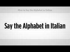 How to say the Alphabet in Italian - EverybodyLovesItalian.com