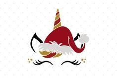 Christmas Unicorn SVG Cut files for Cricut and Silhouette Unicorn Nail Art, Unicorn Face, Christmas Unicorn, Unicorn Halloween, Christmas Projects, Holiday Crafts, Christmas Stuff, Inexpensive Christmas Gifts, Unicorn Drawing