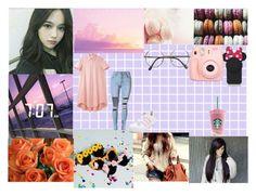 """~My Kpop girl group LGS~ (Kiwi) (Jung Kimoi)"" by twentyonepliots-389 ❤ liked on Polyvore featuring Nicole Miller, WithChic, Charles Anastase, adidas, Kate Spade, Polaroid and ZeroUV"