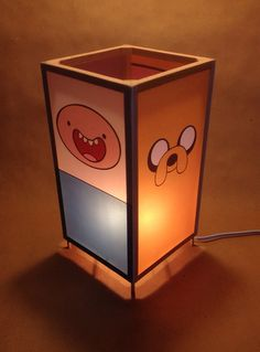Adventure Time LED lamp / nightlight - featuring Bubblegum Princess, Jake the Dog , Finn the Human, and Lumpy Space Princess on Etsy, $45.00  $7.50 u.s. shipping,