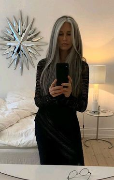 to Improve Health and Fitness After Age 50 Silver hair – elegant yet sporty.Silver hair – elegant yet sporty. Grey Hair Wig, Long Gray Hair, Silver Grey Hair, Blonde Hair, Lilac Hair, Pastel Hair, Grey Brown Hair, Blonde Streaks, Grey Hair Inspiration
