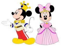 """This is Mickey and Minnie dressed as Prince Charming and Princess Minnie-rella in the """"Mickey Mouse Clubhouse"""" special, """"Minnie-Rella"""". Prince Mickey and Princess Minnie - Minnie-rella Mickey Mouse Y Amigos, Mickey And Minnie Love, Mickey Mouse And Friends, Mickey Mouse Clubhouse Videos, Walt Disney Characters, Cartoon Characters, Disney Princess Fashion, Mickey Mouse Wallpaper, Birthday Gifts For Best Friend"""