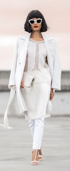 All In White Outfit Idea by Micah Gianneli