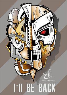 Terminator illustration on Behance