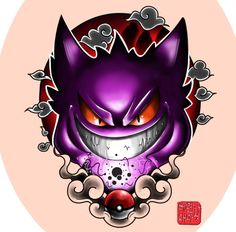 Gengar, Pokemon Pokemon Tattoo, Gengar Tattoo, Gengar Pokemon, Ghost Pokemon, Cute Drawings, Tattoo Drawings, Dragonball Anime, Desenho New School, Ps Wallpaper