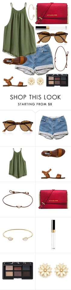""""""""""" by kk-purpleprincess ❤ liked on Polyvore featuring Ray-Ban, Steve Madden, Michael Kors, LC Lauren Conrad, Chanel, NARS Cosmetics and Forever 21"""