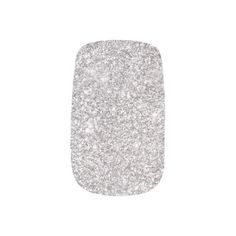 Silver Glitter Modern Sparkles Minx Nail Wraps - glam gifts unique diy special glamour